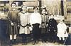 "Nix children:<br /> Annie Lee Nix (Maddox), Eula Mae Nix (Devane), Joe Brown Nix, Lessie Ina ""Bill"" Nix Gray, James Robert ""J. R."" Nix and Elnita Nix (Culverhouse)<br /> Photo courtesy of Frances Gray Plair"