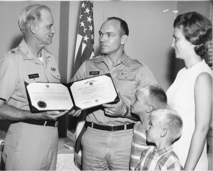 Arthur Osborne military citation, July 1970