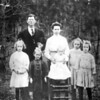 Wiley Lee Overstreet and Marie Stone Overstreet Family<br /> Their first 5 children left to right: Maude, Emma, Reba (standing in chair) Carrie, and Cora Belle.<br /> Photo taken about 1911 or 1912.