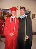 Chase Parker (left, son of Wesley and Lou Parker) and Skeeter Parker, teacher at Berrien High, Berrien High School graduation, 2007. (Courtesy of Skeeter Parker)