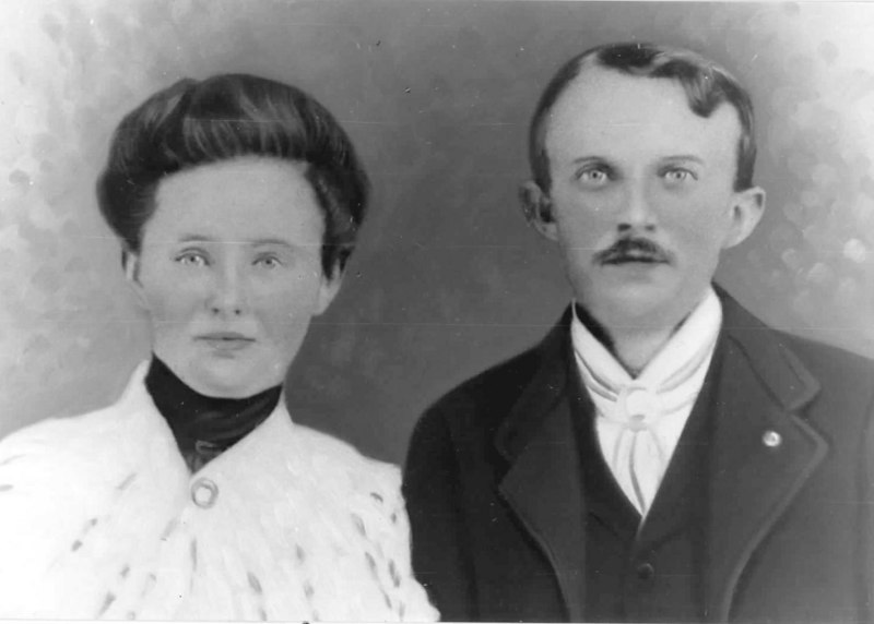 John D. Patten and his wife Lona. Photo circa 1900<br /> Photo courtesy of J. D. Patten