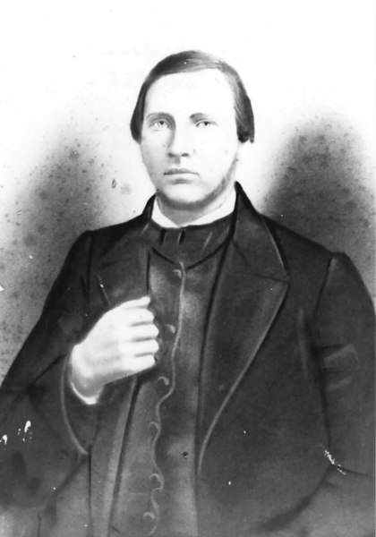 Matthew Patten, married Martha Williams in 1865<br /> Photo courtesy of Audrey Patten Folsom