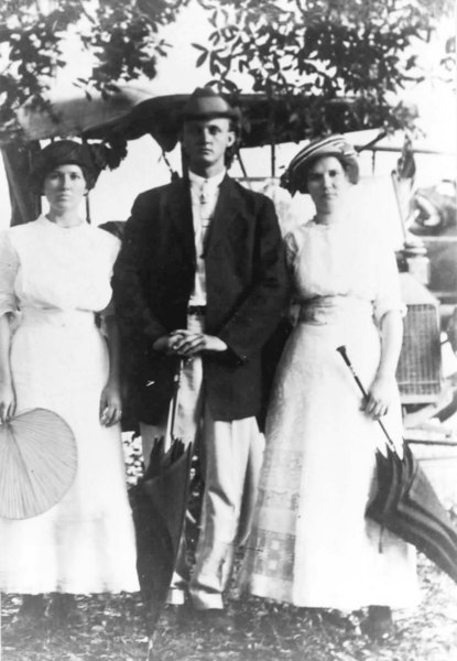 Left to right: Bessie Johnson, Joe Patten, and Lillie Johnson<br /> Courtesy of Audrey P. Folsom