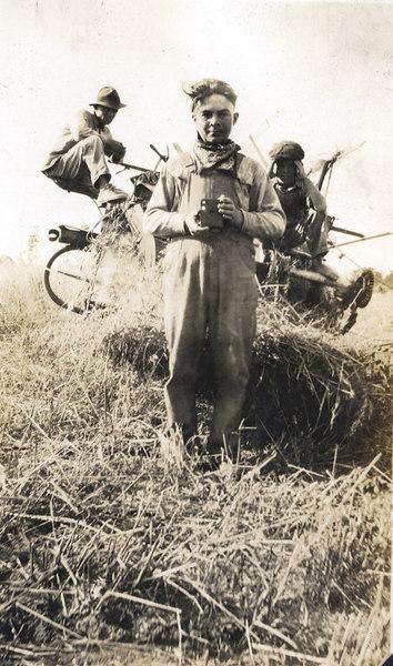 The man with the camera is Harry Hendricks(1904-1924). He was visiting his uncle's farm(John J. Paulk), circa 1904-1920. Lula Paulk and W. H. Hendricks were his parents (Information provided by Mark Dixon, Alapaha)