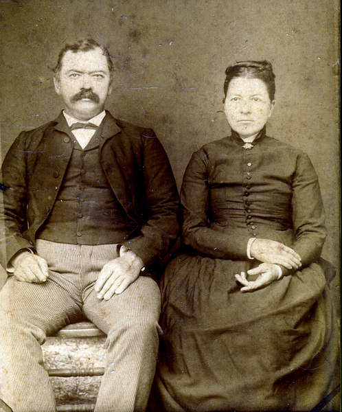Henry Berryman Peeples and Ellen Byrd Peeples.  He was born 2 February 1849 and died 9 July 1909, and was the son of Judge Henry Thompson and Melissa Camp Peeples. They are buried in the Tygart-Peeples Cemetery, off Dogwood Drive, Nashville.