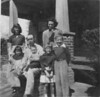 """James P. Register Family, 1952<br /> <br /> The picture appeared in the December 20, 2000 issue of The Berrien Press with an article written by James P. Register, Jr., entitled """"A Very Special Christmas Tale"""".  The cutline is reprinted below:<br /> <br /> HAPPY FAMILY PICTURE - James P. Register, Jr., formerly of Nashville and now a resident of St. Augustine, Florida, sent this photo of his family along with his Christmas story.  The photo includes his parents, Nancy Browning and J.P. Register, Sr., with their children, James, jo Ann, Anita, Elaine, and LInda Carol.  It was taken in 1952 at the New Lois farm of his aunt and uncle, Rosa and Chester Browning."""