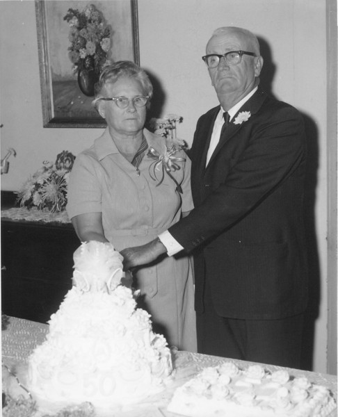 Mr. and Mrs. Elisha Roberts - Dec. 1970<br /> (photo by Troy Harsey)