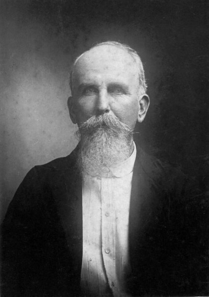 """Francis Marion Shaw, Sr. 1846-1922 Son of Jeremiah Shaw, Jr.<br /> Identified as """"Sr."""" to differentiate between distant cousin, Francis Marion Shaw, Jr. who was a Berrien County Commissioner."""