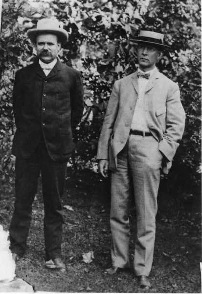 "Robert ""Bert"" Simpson, left, and George Murrell, from Ohio, extablished the Murrell Turpentine Company in 1905. Photo courtesy of Patti Simpson"