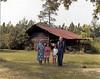 Amos Singletary, (born 12 Apr 1910, died 21 Feb 2003), son of Nathan S. and Estelle S. Lewis Singletary, far right, with wife, Lillie Velma Kent Singletary, far left, near Riverside, circa 1995.  Mrs Singletary died July, 2006.