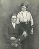 Ezekiel James Sirmans and his wife Eunie Elizabeth Hancock Sirmans at the time of their wedding in April, 1913. Ezekiel James was born 24 February, 1889, and Eunie Elizabeth was born 30 November, 1887. Photo courtesy of Joann Sirmans.