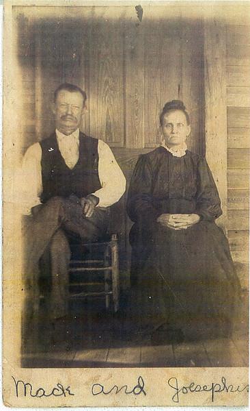 "Jacob ""Mack"" B. Smith and Josephine Ball Smith.<br /> Josephine was the daughter of John A. Ball and Mary Saphronia Owens Ball (Courtesy: Carolyn Greer)"