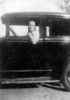 Ernest Smith in his firtst car.