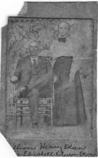 William Henry Dean and __ Elizabeth Roberson Dean