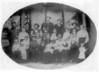 "Stephen and Eliza Fender Swain with 5 of their children and 16 grandchildren. Picture Made around 1915.<br /> First Row: Lonnie, Elisha ""Daub"" and J. R. Swain, Lessie Ina ""Bill"" Nix Gray, J.R. Nix, Eliza Ann Fender Swain, Stephen Americus Swain. Babies are Roy and Ty Mathis and Elnita Nix Culverhouse, Roy and Dewey ""Dude"" Mathis, Phoenia Mathis Goodin, Eliza Jane  Mathis Beaty.<br /> Second Row: Lula Fender Swain, Eula Mae Nix Devane, Annie Lee Nix Maddox, Joe Brown Nix, Jim Mathis<br /> Third Row: Dred Swain, John Stephen Swain, Joe Varn Nix, Nancy Swain Nix, John Duncan ""Dump"" Mathis and Eliza Zelpha Ann Swain Mathis.<br /> Photo courtesy Frances Gray Plair"