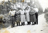 Front Row: George Swain, Angie Swain Fender, Bessie Warren Swain, Flora Nell Bryant Swain, and Nancy Swain Nix.<br /> Back Row: John Swain, Johnny Fender, Lacey Swain, Dred Swain, Joe Varn Nix<br /> Photo courtesy of Frances Gray Plair