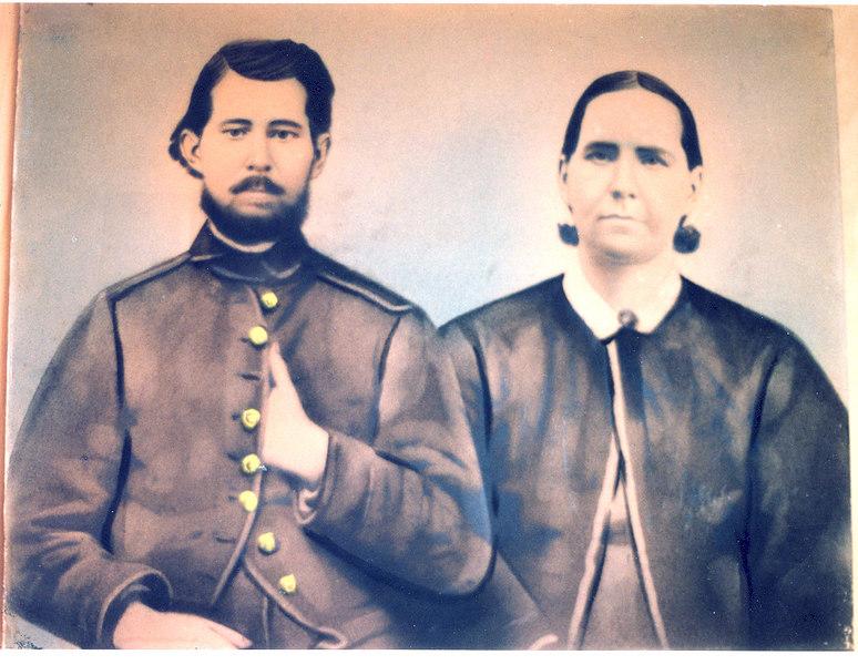 James Swindle and Nancy Jane Parker. James was a Civil War Veteran