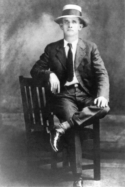 """Elijah """"Lige"""" Tucker, Milltown police chief. He grew up in Berrien County. Photo circa 1920"""