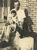 """Semion """"Elcho"""" Webb with eldest daughter, Glenda Kay Webb (Hearn), 1947.<br /> Elcho (1916-1991) was the youngest son of Rev. Francis Asbury Webb and Mary <br /> Alice (Parrish) Webb of Adel.<br /> He was married to Jimmie """"Merle"""" (Griffin) Webb of Berrien County who was the <br /> youngest daughter of James """"Tally"""" Griffin and Fannie Julia (Taylor) Griffin, <br /> all of Berrien County. (Courtesy of Kathy Webb Roberson)"""