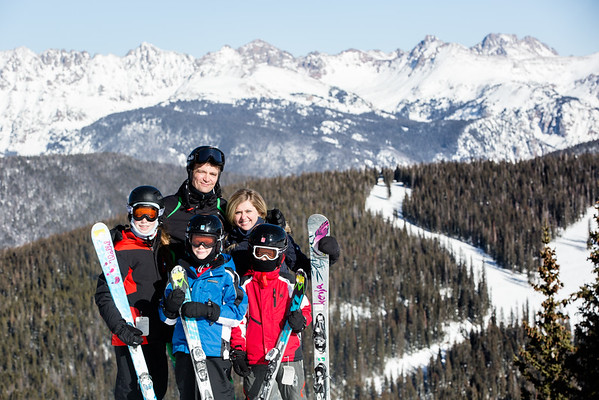 Family Ski Day Photos