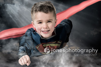 Superman flying boy photo