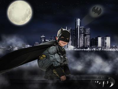 Batman on wall grunge