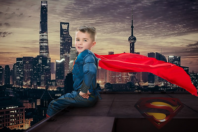Superman Sitting on the wall