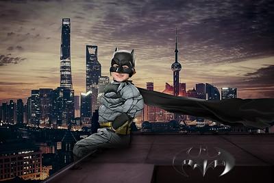 Batman Sitting on the wall