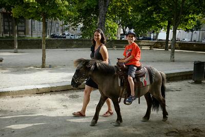 Marius a fait un tour de poney