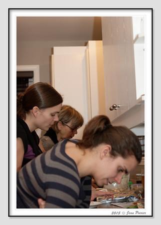 Sushi chez Martin et Manuelle avec famille de Joelle