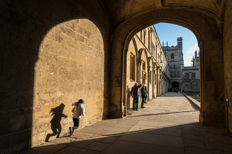 Archway opening into Tom Quad, Oxford University
