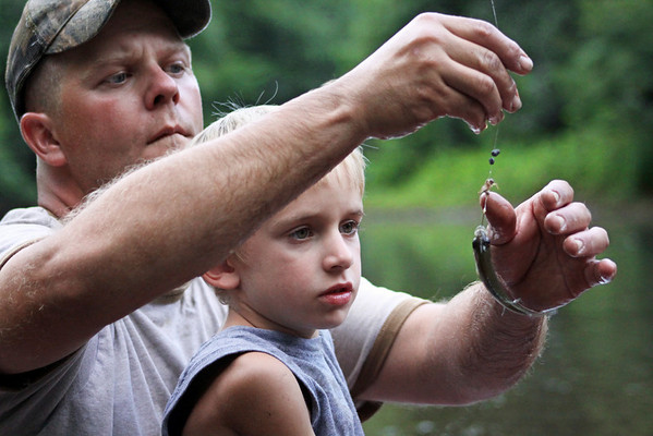 He wanted the little bait fish.