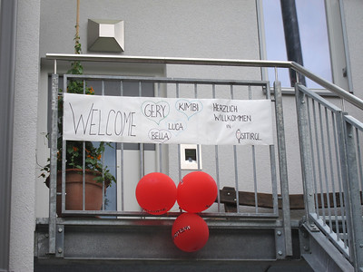 One of the many warm welcomes to Lienz.