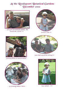 Botanical Gardens - December 2002  Mum took Joanne, Tony and Sami to the Roodepoort Botanical Gardens for a day out and composed this montage from the snaps taken on the day.