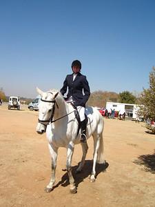 Sarah Riding Blue Heat