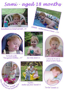 Sami - 18 months old  A collection of photos mum took of Sami round about the age of 18 months.