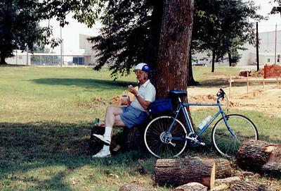 1991 - Summer - biking with Dad