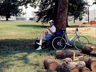 1991 - summer - biking with Dad