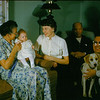 Lori born 10/7/1960. With our dog, Pebble.