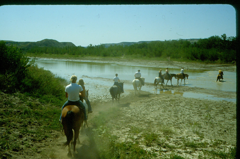 Horse back riding with chuck and Vera in the Dakota's