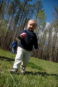 Jack really enjoyed the Easter Egg hunt.