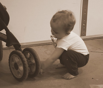 Our new fascination - wheels!