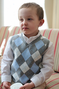 """Perhaps still a little bitter about having to wear fancy clothes to church today.  Jack had a meltdown this morning fearing he would not look cool.  """"Girls look pretty, guys look cool.""""  Or so Jack tells me."""