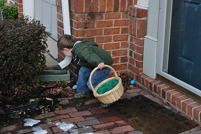 Easter egg hunting at 6:45 am.
