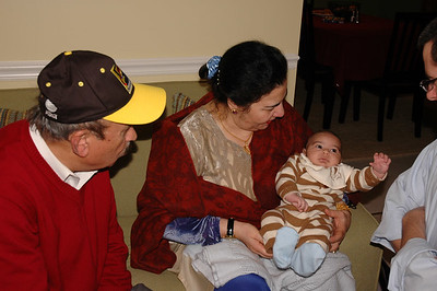 Zeenie's parents - Tahir, Saleema, and her newest nephew, Mustafah.