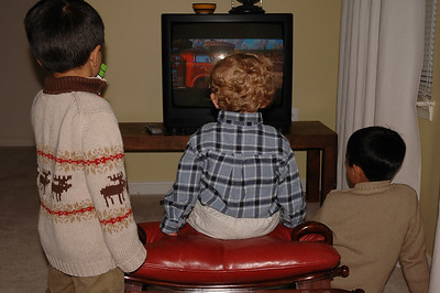 The boys finally convince Jack to give the TV a few minutes of his valuable time.