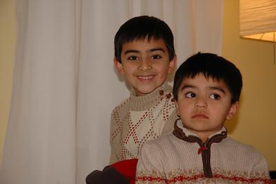 Zeenie and Patrick's nephews, Yusuf and Akbar.