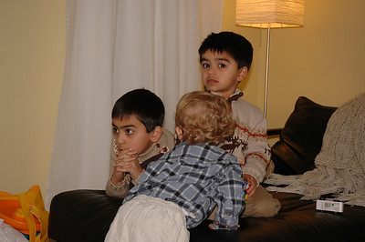 Entertainment has arrived!  Jack would not leave poor Yusuf and Akbar alone.