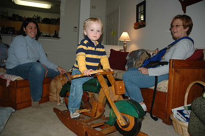 Jack tries out his new wheels!
