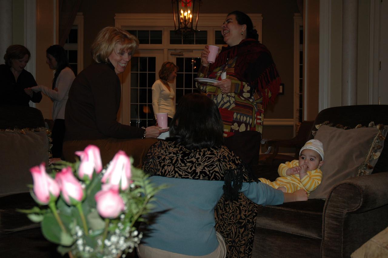 Mary, Salema, Farrah, and Mustafah share a laugh.